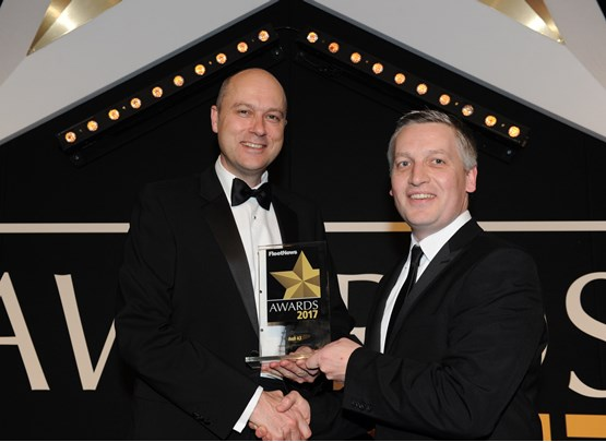 Head of Audi UK Fleet James Douglas (left) with Elliot Scott, fleet director of award sponsor Thrifty Car & Van Rental