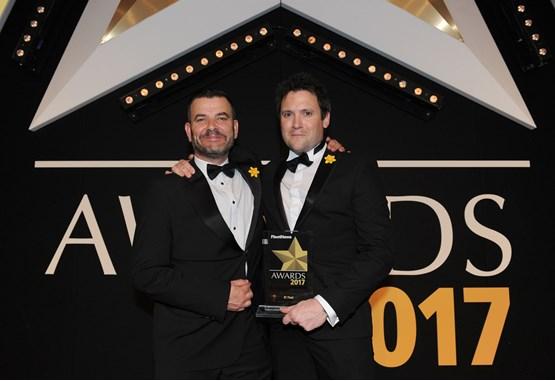 Toyota & Lexus Fleet general manager Neil Broad (left) presents the award to BT Fleet managing director Henry Brace