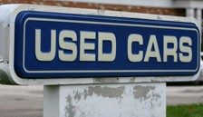 used cars sign
