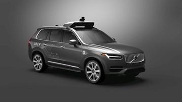 Volvo Uber self driving cars.