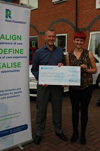 Agility Fleet presents £8,000 to Rees Foundation