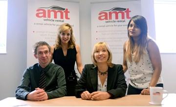 AMT's marketing team (from left): search engine optimisation executive Mike Osolinski;   marketing designer Emma Garlick; marketing manager Heather Thompson; and social media executive Anjana Athanikar
