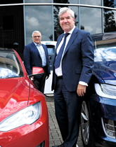 Chargemasters' founder and chief executive David Martell (front) with commercial director James Jean-Louis.