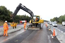 Cheshire's new smart motorway.