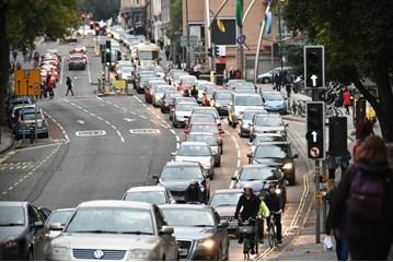 City centre traffic speed