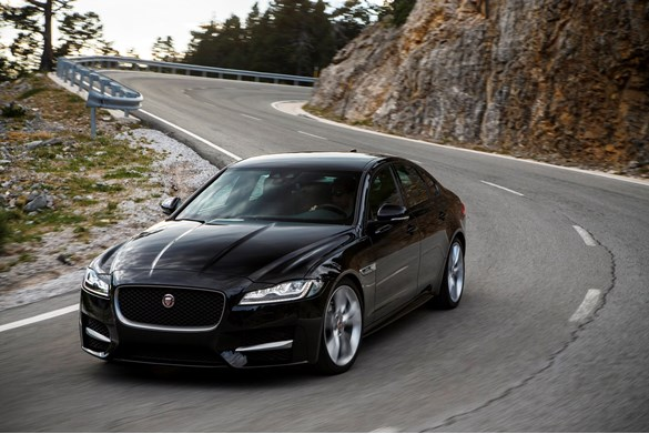 first drive jaguar xf 2 0 d 180 r sport auto car review. Black Bedroom Furniture Sets. Home Design Ideas