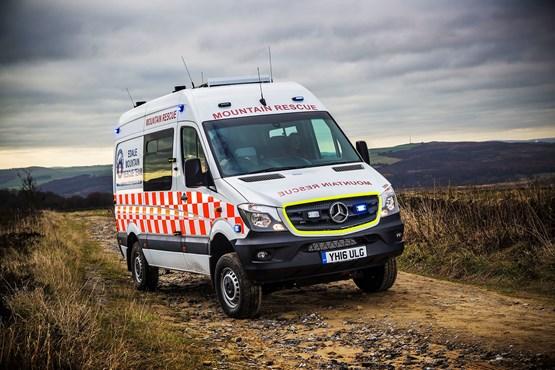 Mountain rescue team chooses mercedes benz sprinter 4x4 for Mercedes benz sprinter 4x4