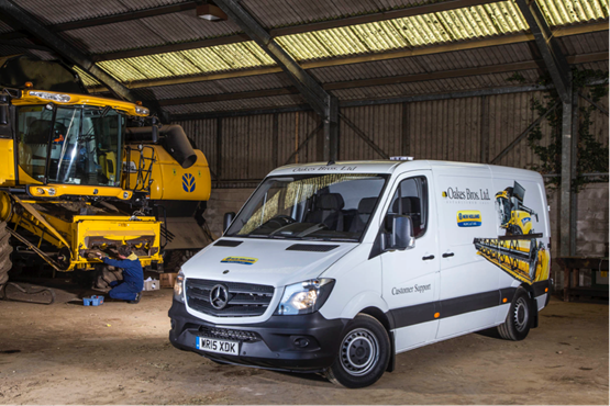 Oakes bros replaces mobile service units with mercedes for Mercedes benz financial services phone number