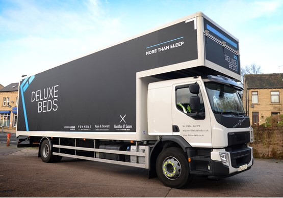 Deluxe beds takes delivery of volvo rigids truck news for Beds huddersfield