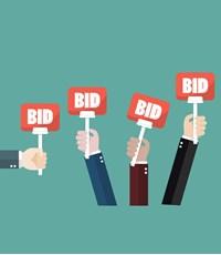 Remarketing auction stock image