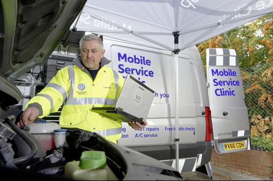 Mobile servicing Volkswagen