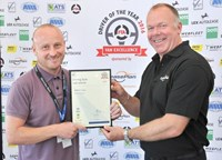 FTA Van Driver of the Year 2016 Mathew Young with Mark Lovett
