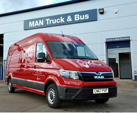 GKC is first UK company to take delivery of a MAN TGE van