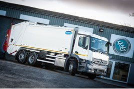 Mercedes-Benz Antos refuse truck