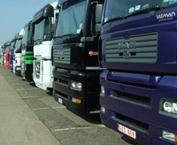 Parked lorries