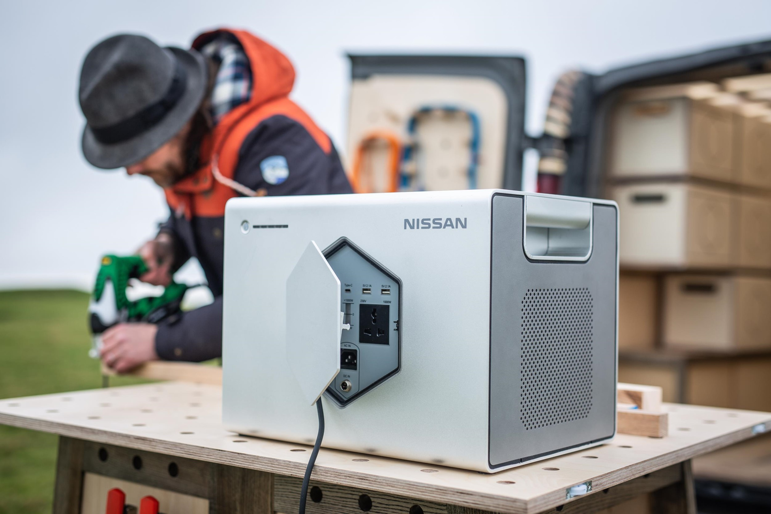 nissan to launch portable battery pack made out of end