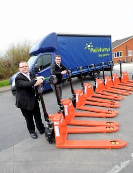 Palletways fleet investment.