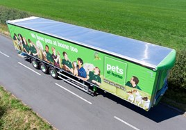 Pets at Home Cartwright's curtainsider semi-trailer