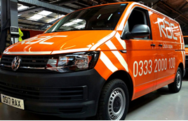 RAC vans fitted with Exeros Technologies TrackEye CCTV