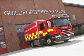 Surrey Fire & Rescue driver training.