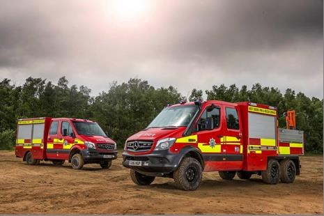 West Sussex Fire Chiefs Take On First 6x6 Mercedes
