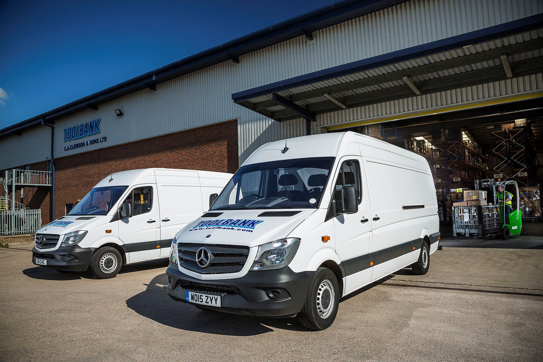 Toolbank adds three mercedes benz sprinter vans to for Mercedes benz service contract cost