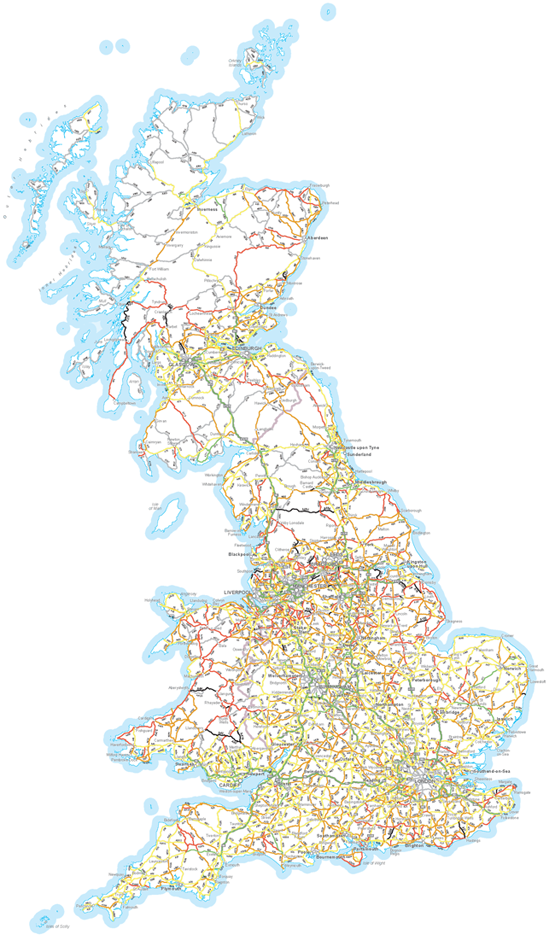 Road risk map