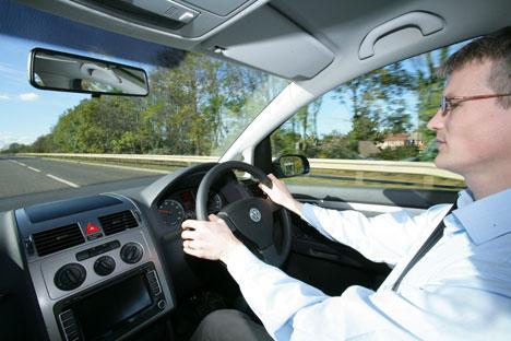 John Maslen, from Fleet News, takes his advanced driving test.