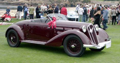 A 1935 Alfa Romeo 6C 2300 Pescara Spyder that competed in the Mille Miglia, once owned by Benito Mussolini
