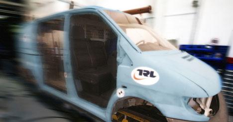 TRL van crash test