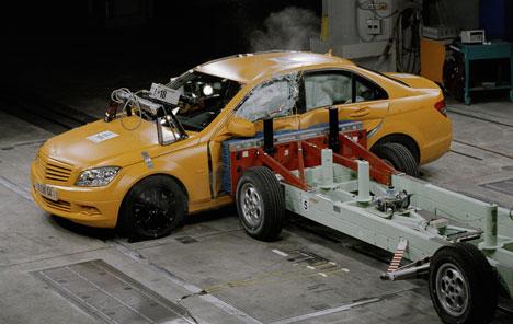 Mercedes-Benz C-Class undergoes crash testing