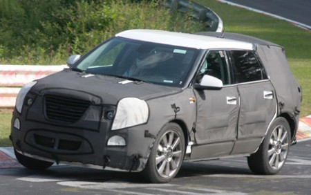 2008 spyshot: Saab 9-4X